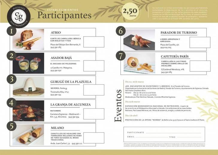 'Sigüenza Gastronómica 2017' comienza con la celebración del X Concurso de Pinchos Medievales