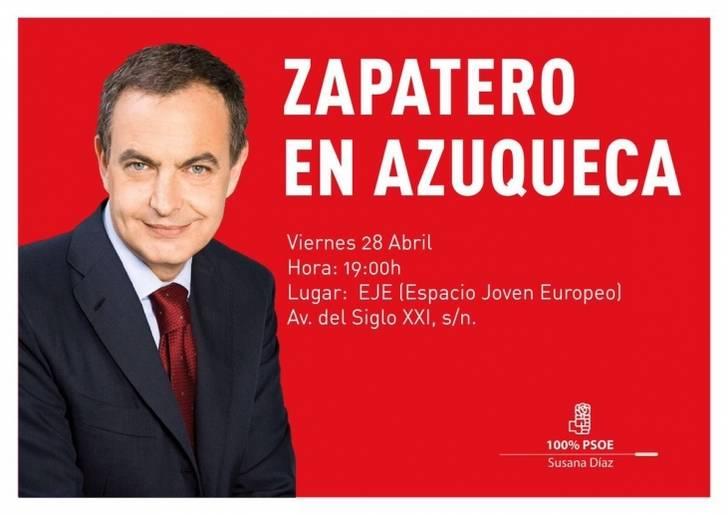 El ex presidente Zapatero irá a Azuqueca de Heanares para pedir el apoyo para Susana Díaz