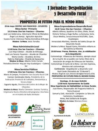 I Jornadas sobre Despoblación y Desarrollo Rural en Cifuentes y Gualda