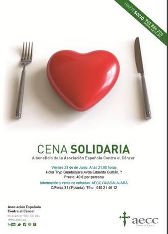 La Asociación Española contra el Cáncer celebra en Guadalajara su cena solidaria