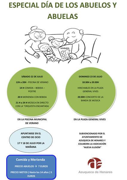 El lunes se ponen a la venta en Azuqueca los vales para el Día de los Abuelos y Abuelas