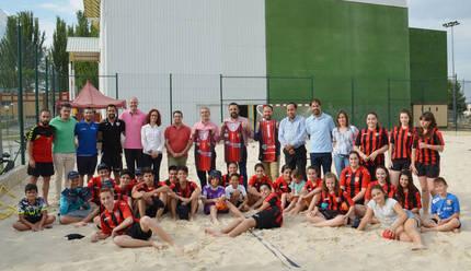 Cinco equipos azudenses han participado en el Campeonato de España de Balonmano Playa