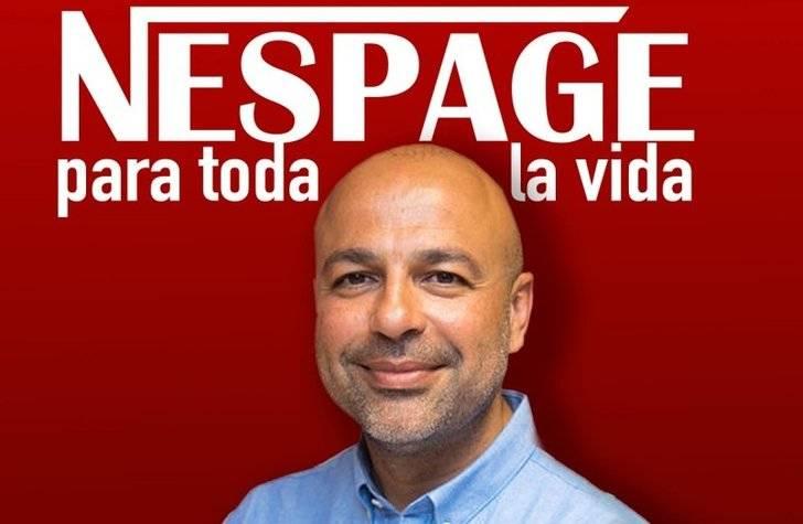 Montaje de STAS con García Molina como protagonista del Nespage (parodiando el NESCAFE, Un sueldo para toda la Vida)