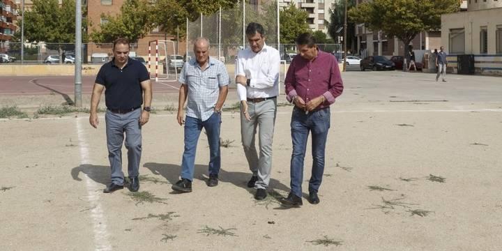Román anuncia una inversión de medio millón de euros para el nuevo Parque de Ocio Deportivo en Los Manantiales