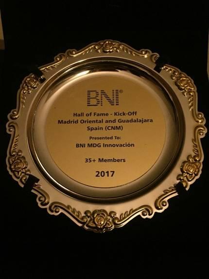 Los empresarios del grupo BNI Innovación de Guadalajara son premiados en EE.UU.