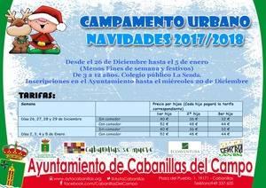 El Ayuntamiento de Cabanillas organiza un nuevo Campamento Urbano durante las vacaciones escolares de Navidad
