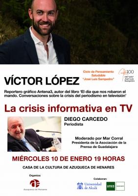 El ciclo 'José Luis Sampedro' continúa el 10 de enero con la charla 'La crisis informativa en TV'
