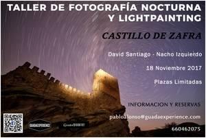 Guadexperience ofrece la posibilidad de realizar un Taller de Fotografía Nocturna y Lightpainting en el Castillo de Zafra