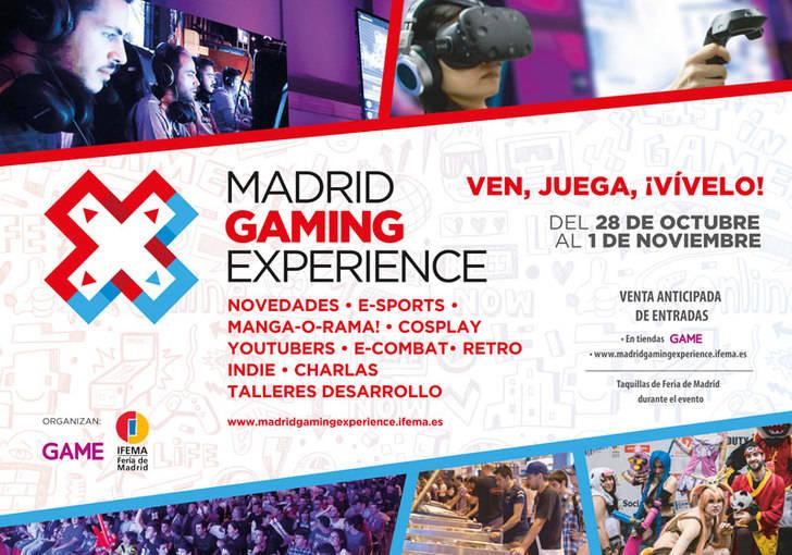 Disfruta durante tres días de Madrid Gaming Experience, la mayor feria dedicada al ocio digital y el entretenimiento interactivo