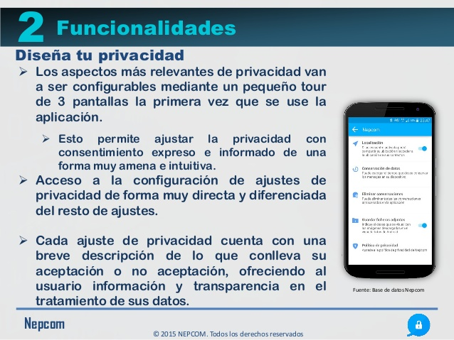 Nepcom : Una aplicación que borra mensajes una vez leídos para proteger la confidencialidad