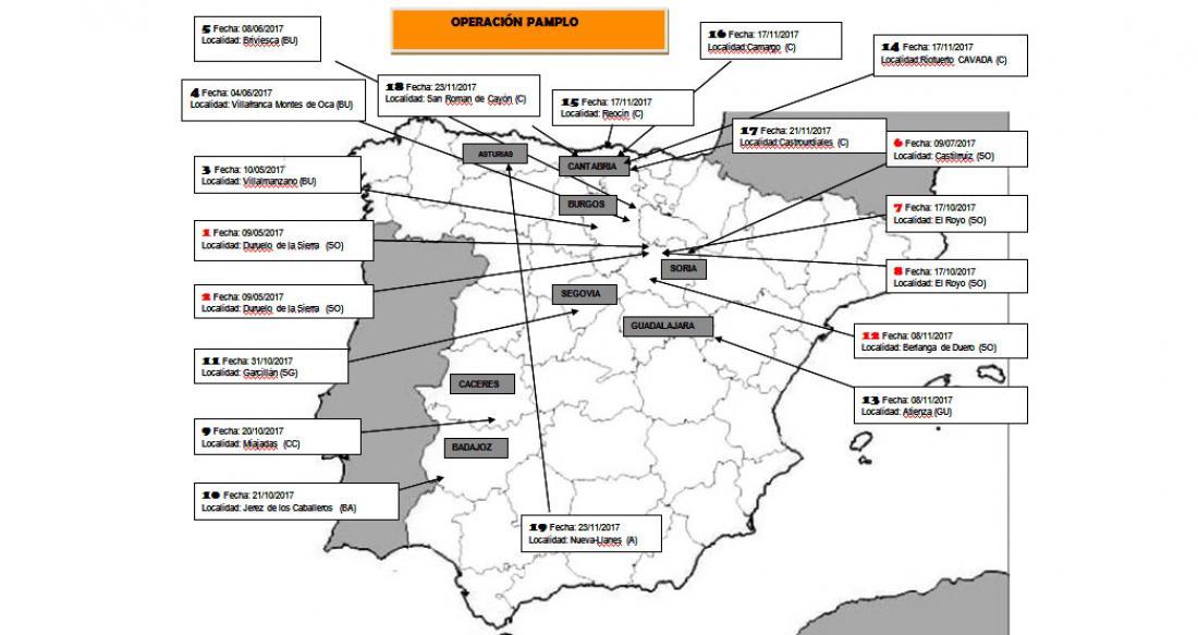 c632359521a2 La Guardia Civil desarticula un grupo especializado en delitos con ...