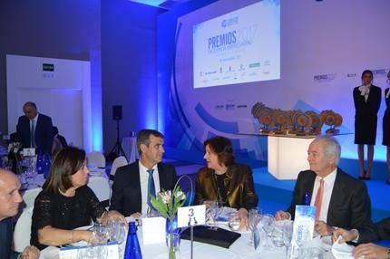 La consejera de Economía, Patricia Franco, en la entrega de premios de Excelencia Empresarial 2017 de Guadalajara