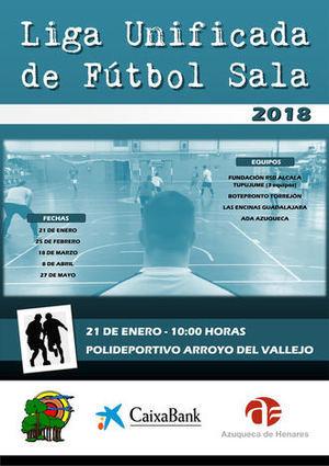 Azuqueca pone en marcha su I Liga Unificada de Fútbol Sala