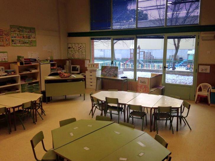 El colegio público Pedro Sanz Vázquez de Guadalajara denuncia que 'los niños están pasando mucho frío en las clases'