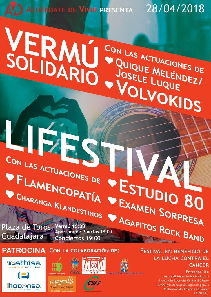 """Concierto solidario del grupo musical """"Examen Sorpresa"""" en el LIFESTIVAL de Guadalajara para recaudar fondos para la lucha contra el cáncer"""