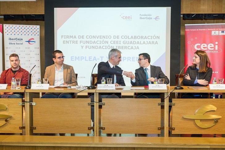 La Fundación Ibercaja renueva su colaboración con la Fundación CEEI Guadalajara para desarrollar el progrma Emplea-T y Emprende