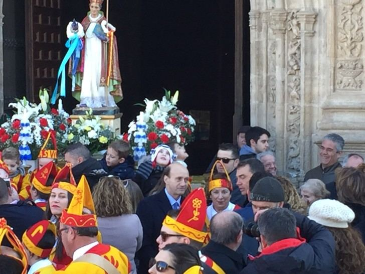 El subdelegado delGobierno en Guadalajara, Juan Pablo Sánchez Sánchez-Seco, asiste a la festividad de San Blas en Albalate de Zorita