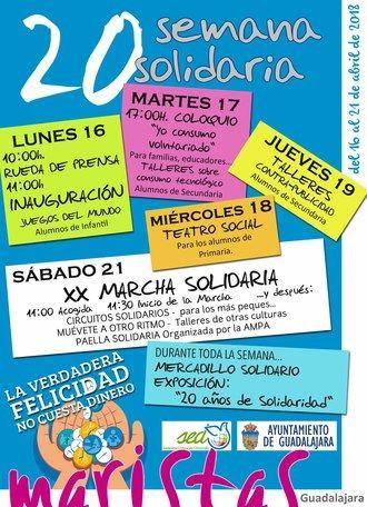 El Colegio Marista de Guadalajara celebran su XX Semana Solidaria