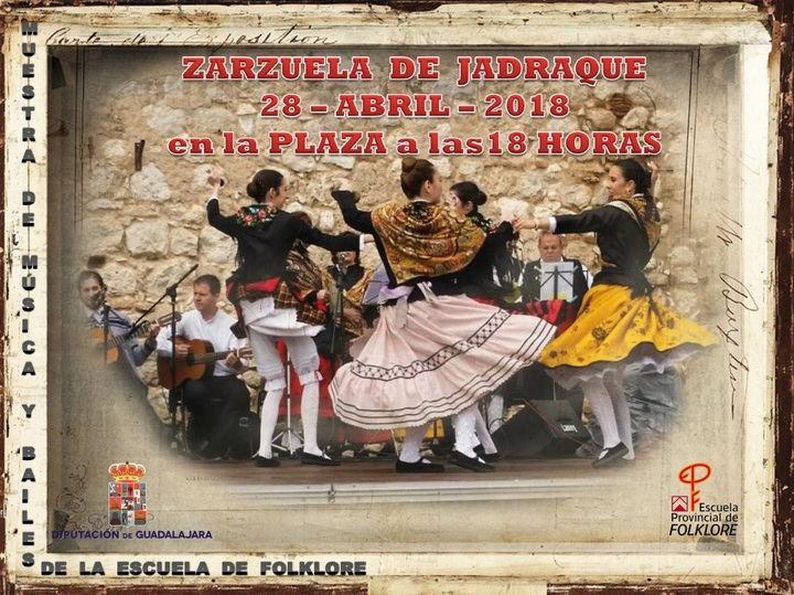 Muestra de música y bailes tradicionales de la Escuela de Folklore de la Diputación este sábado en Zarzuela de Jadraque