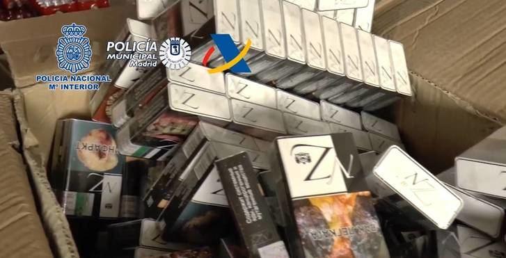 Varios detenidos en Azuqueca por contrabando de tabaco y blanqueo de capitales