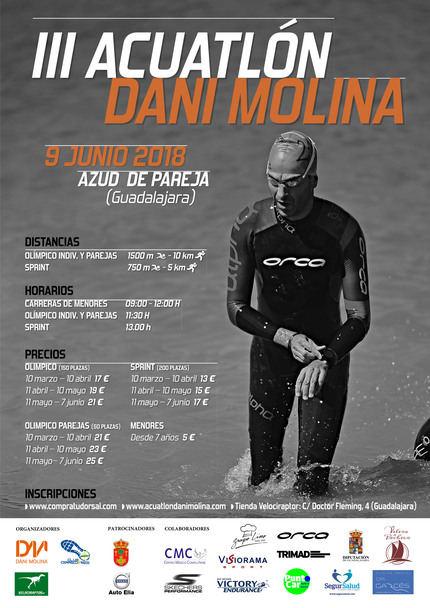 Este sábado, 9 de junio, III Acuatlón 'Dani Molina' en Pareja