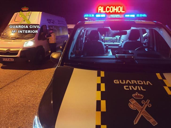 Campaña especial de control de alcoholemia y drogas al volante a partir de este lunes 7 de diciembre en las carreteras de Guadalajara