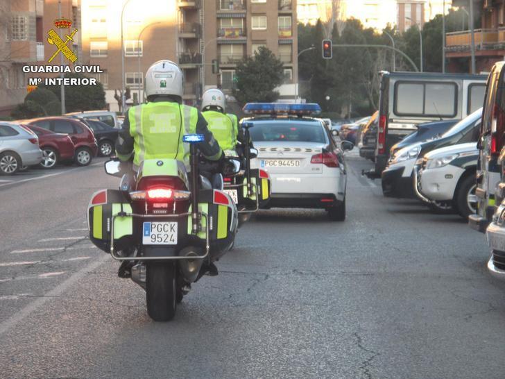 La Guardia Civil detectó 38 alcoholemias positivas en carreteras de la provincia de Guadalajara el pasado fin de semana