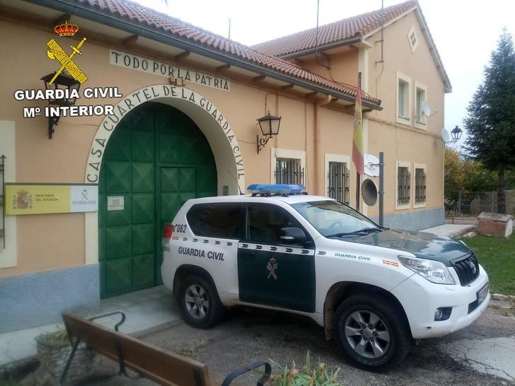 La Guardia Civil investiga a tres personas como presuntos autores de robos y daños en viviendas de Villanueva de Alcorón cometidos durante el Estado de Alarma