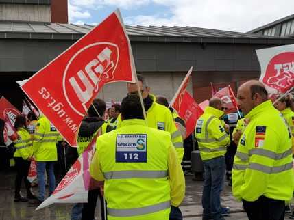 """Los sindicatos """"entran en cólera"""" podr el momento actual que soportan las ambulancias en CLM"""