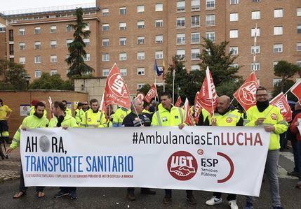 Los trabajadores de las ambulancias en Castilla la Mancha piden más fondos a la Junta para la firma de un nuevo Convenio Colectivo