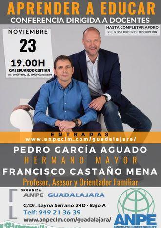 El sindicato ANPE Guadalajara se trae a Pedro García Aguado y Francisco Castaño para una charla