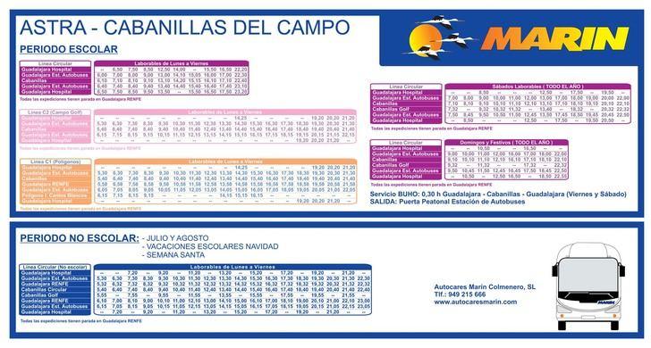 Los autobuses Guadalajara-Cabanillas recobran el horario previo a la pandemia a partir del lunes 7 de septiembre