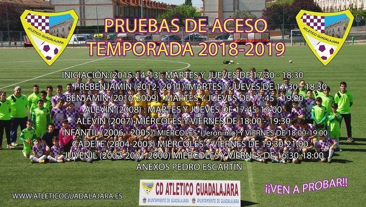 El Atlético Guadalajara comienza sus pruebas de acceso la próxima semana