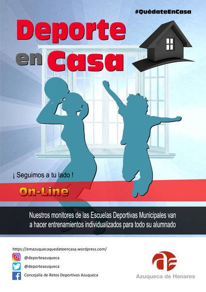 El Ayuntamiento de Azuqueca lanza 'Deporte en casa' con entrenamientos individualizados para el alumnado de las Escuelas Municipales