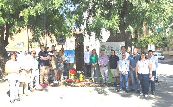 Las Nuevas Generaciones del PP no olvidan, y rinden homenaje a Miguel Ángel Blanco en un emotivo acto en Azuqueca