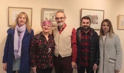 """Inaugurada en Cabanillas la exposición con los """"Dibujos"""" de Quique Burgos"""