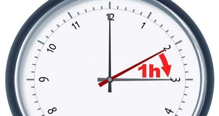 Este sábado se cambia la hora : A las dos de la madrugada serán las tres
