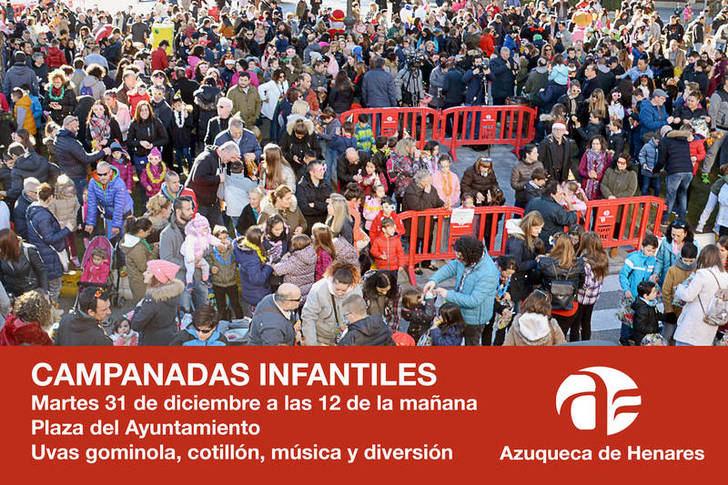 Este martes, campanadas infantiles en la plaza del Ayuntamiento de Azuqueca