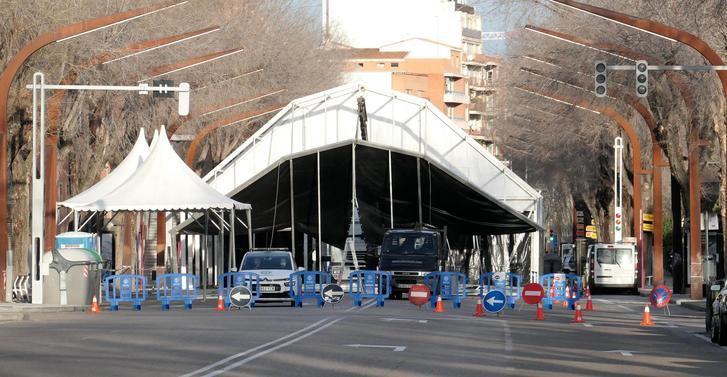 Todo preparado en Guadalajara para el recibimiento de Sus Majestades los Reyes Magos en la carpa de la calle Toledo