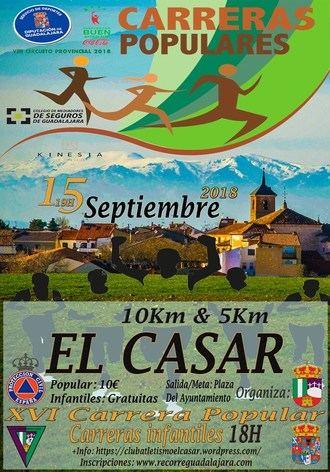 Este sábado se celebra la XVI Carrera Popular El Casar, sexta prueba del Circuito Diputación