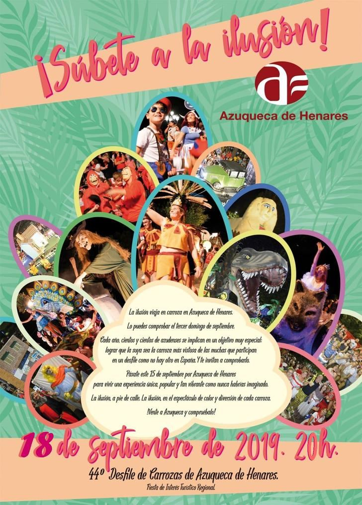 El Desfile de Carrozas de Azuqueca se celebrará este miércoles a las 20 horas