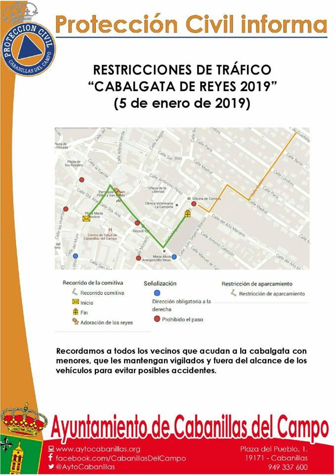 Todo listo para la Cabalgata de Reyes 2019 en Cabanillas del Campo