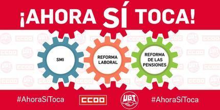 CCOO y UGT reanudan las movilizaciones este lunes 12 de abril para presionar al Gobierno que cumpla con la agenda de reformas sociales comprometidas