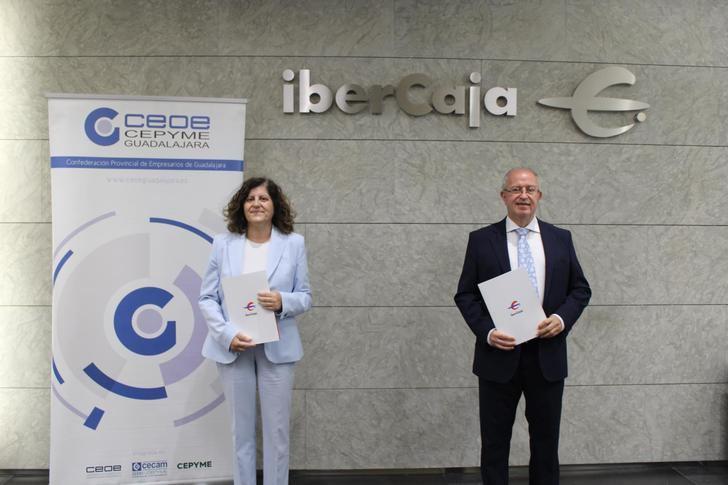 CEOE-CEPYME Guadalajara e IberCaja continúan su colaboración un año más