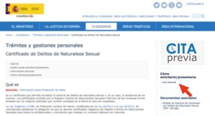 El Ministerio de Justicia recuerda la obligación de presentar el certificado de delitos sexuales para las actividades relacionadas con menores