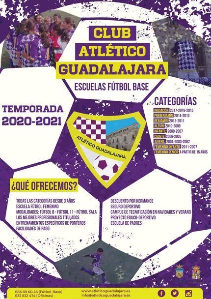 Abierto el plazo de inscripcion en el Club Atlético de Guadalajara para la temporada 2020/2021