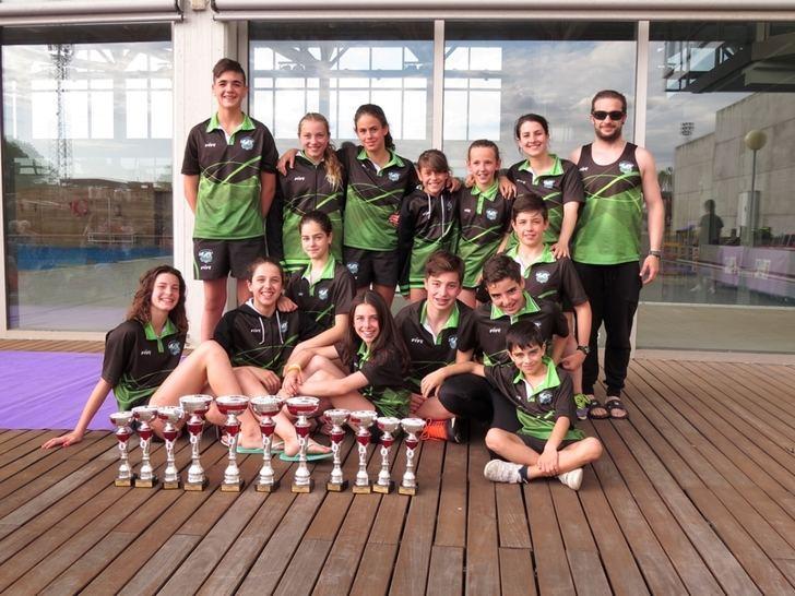 El club Guadalajara Swimming consiguió alzarse campeón provincial en la categoría infantill y subcampeón en la categoría alevín y cadete