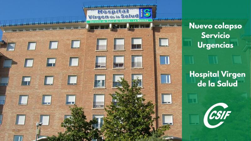 Denuncian que más de 60 pacientes diarios están pendientes de ingreso en el Hospital de Toledo