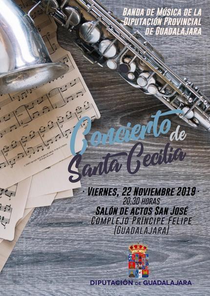 La Banda de Música de la Diputación de Guadalajara ofrecerá el Concierto de Santa Cecilia el próximo viernes en el San José