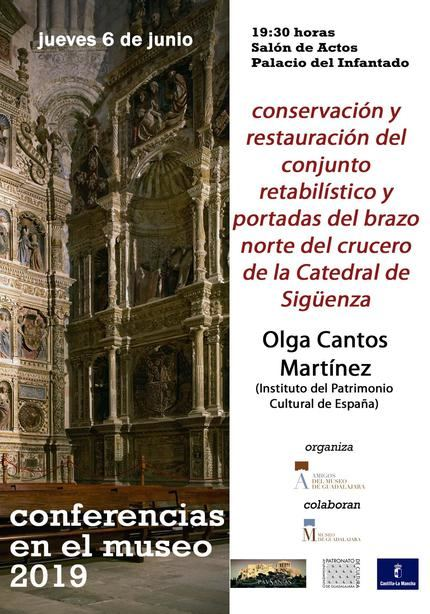 Una conferencia tratará la restauración de los retablos y portadas del brazo norte de la Catedral de Sigüenza